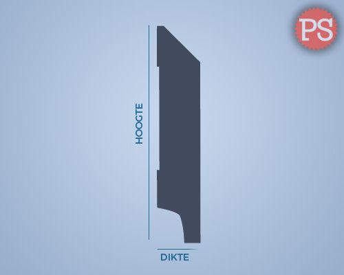 moderne plint mdf-v313 doorsnede