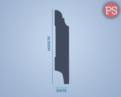 toscaanse plint mdf-v313 doorsnede