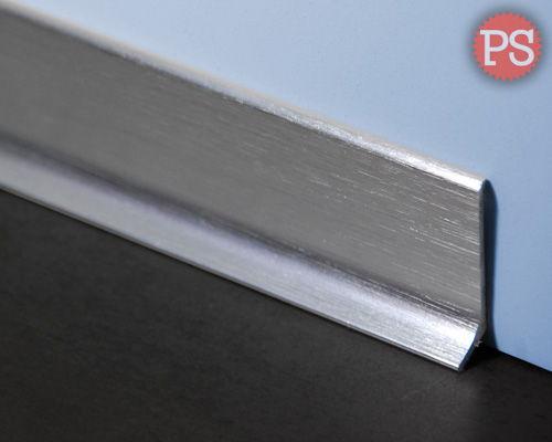 zilveren plint aluminium