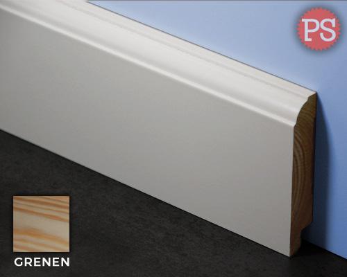 Plintenstunter - kraal plint grenen-gelakt-ral9010
