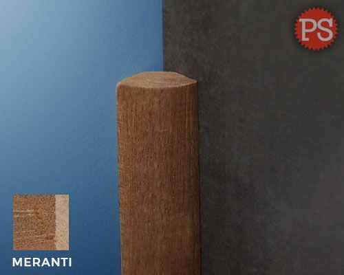 Plintenstunter - hoeklijst kwartrond hardhout