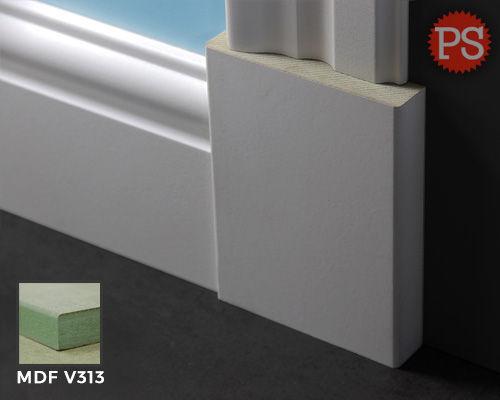 Plintenstunter - rechte brede plintneut mdf-v313